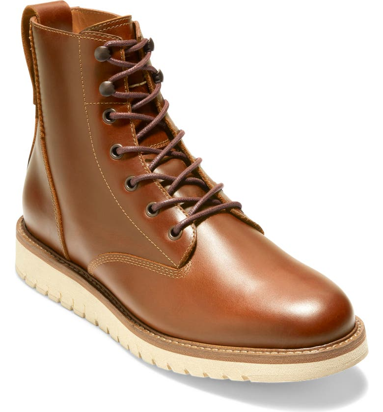 COLE HAAN ZER?GRAND Waterproof Plain Toe Boot, Main, color, MEDIUM BROWN