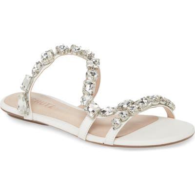 Schutz Potira Slide Sandal, White