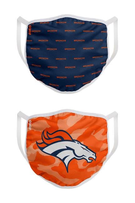 Image of FOCO NFL Denver Broncos Clutch Printed Face Cover - Pack of 2