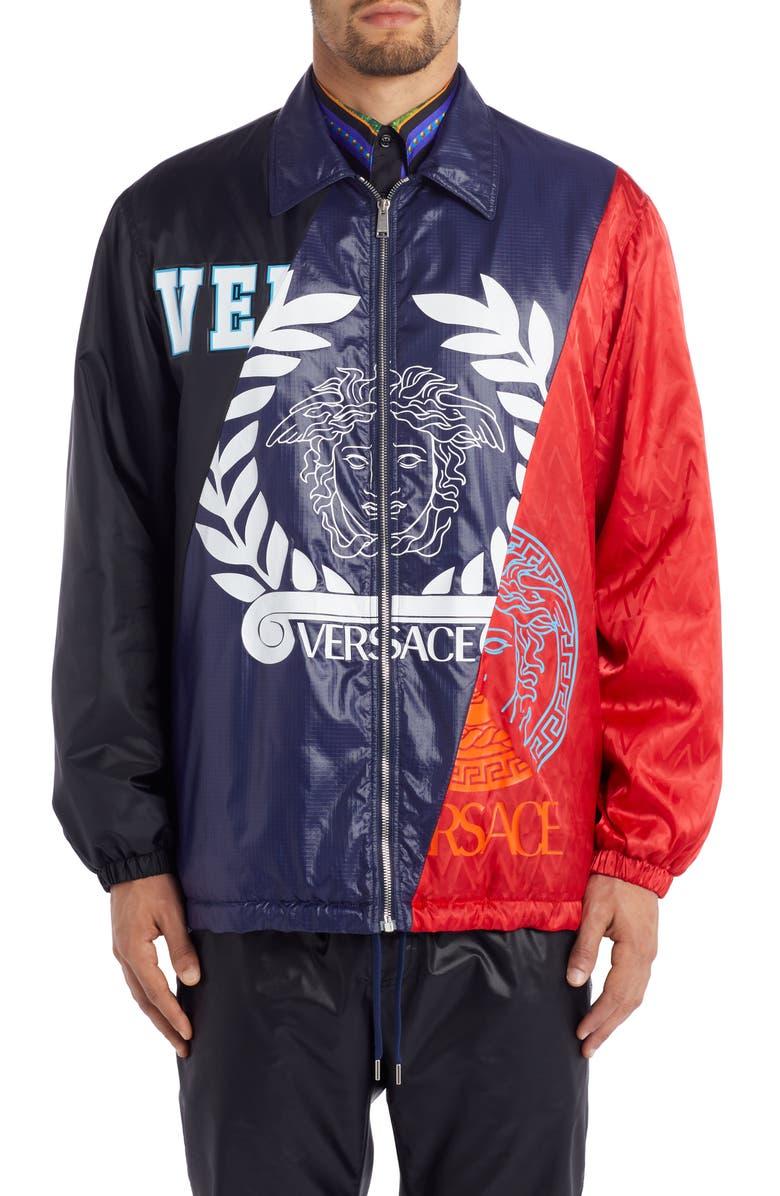 VERSACE Medusa Blouson Jacket, Main, color, RED