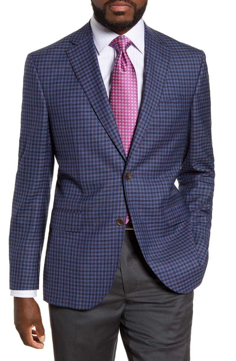 DAVID DONAHUE Connor Classic Fit Check Wool Sport Coat, Main, color, 400