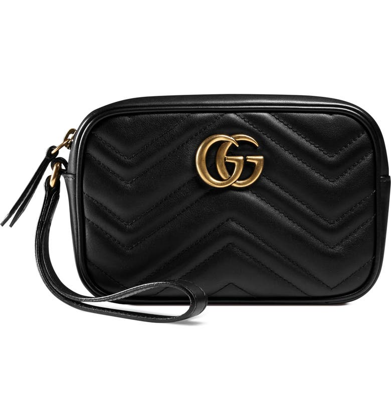 NEW GUCCI GG Marmont Matelassé Imitation Pearl Leather
