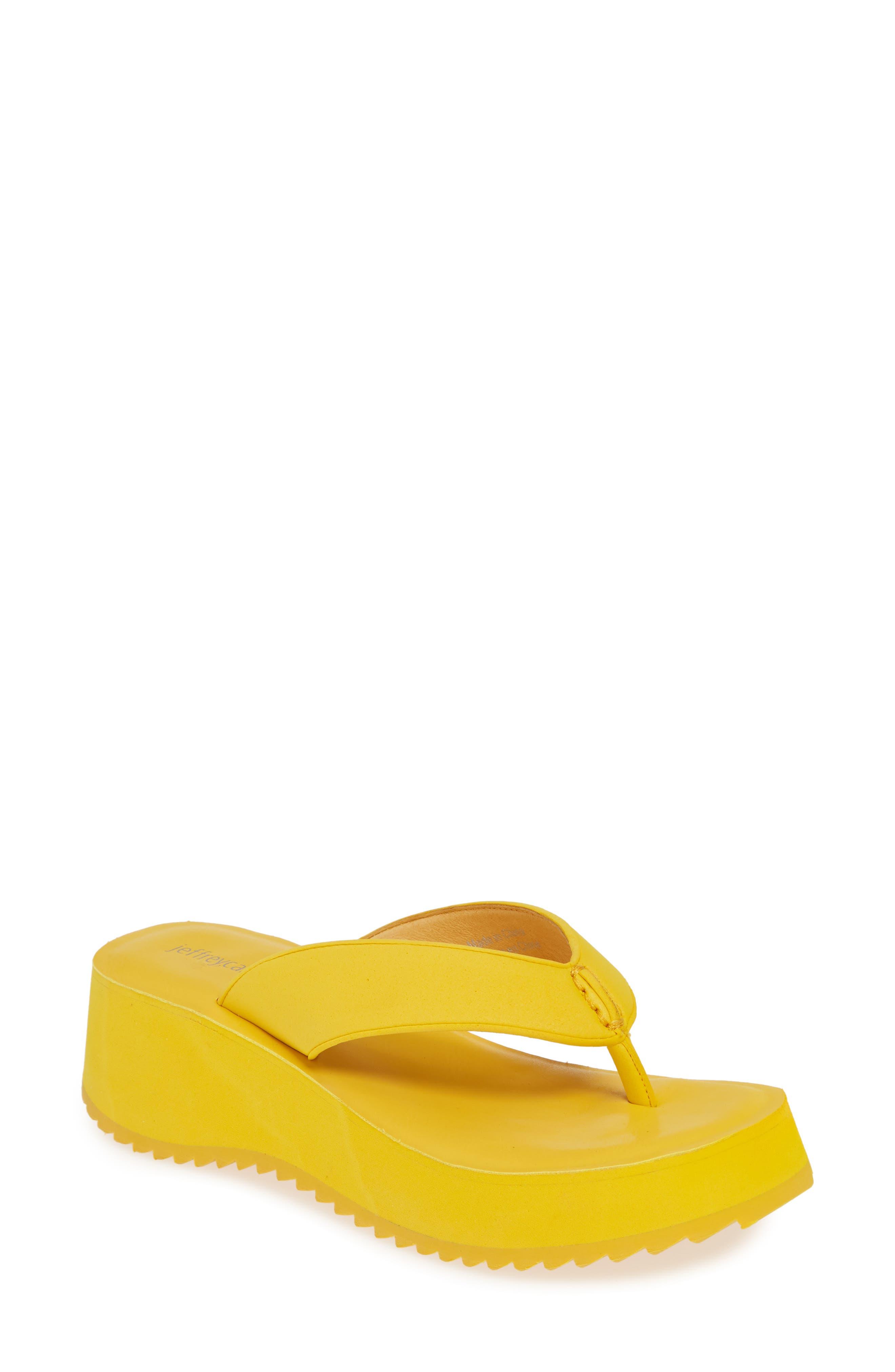 Jeffrey Campbell Platform Flip Flop, Yellow