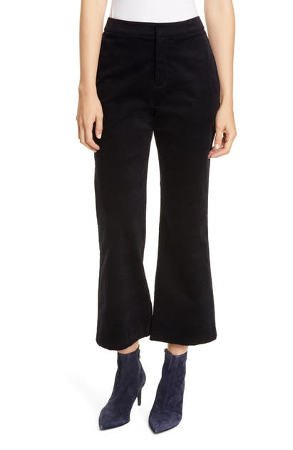 Joie Pants DUKE HIGH WAIST CROP KICK FLARE CORDUROY PANTS
