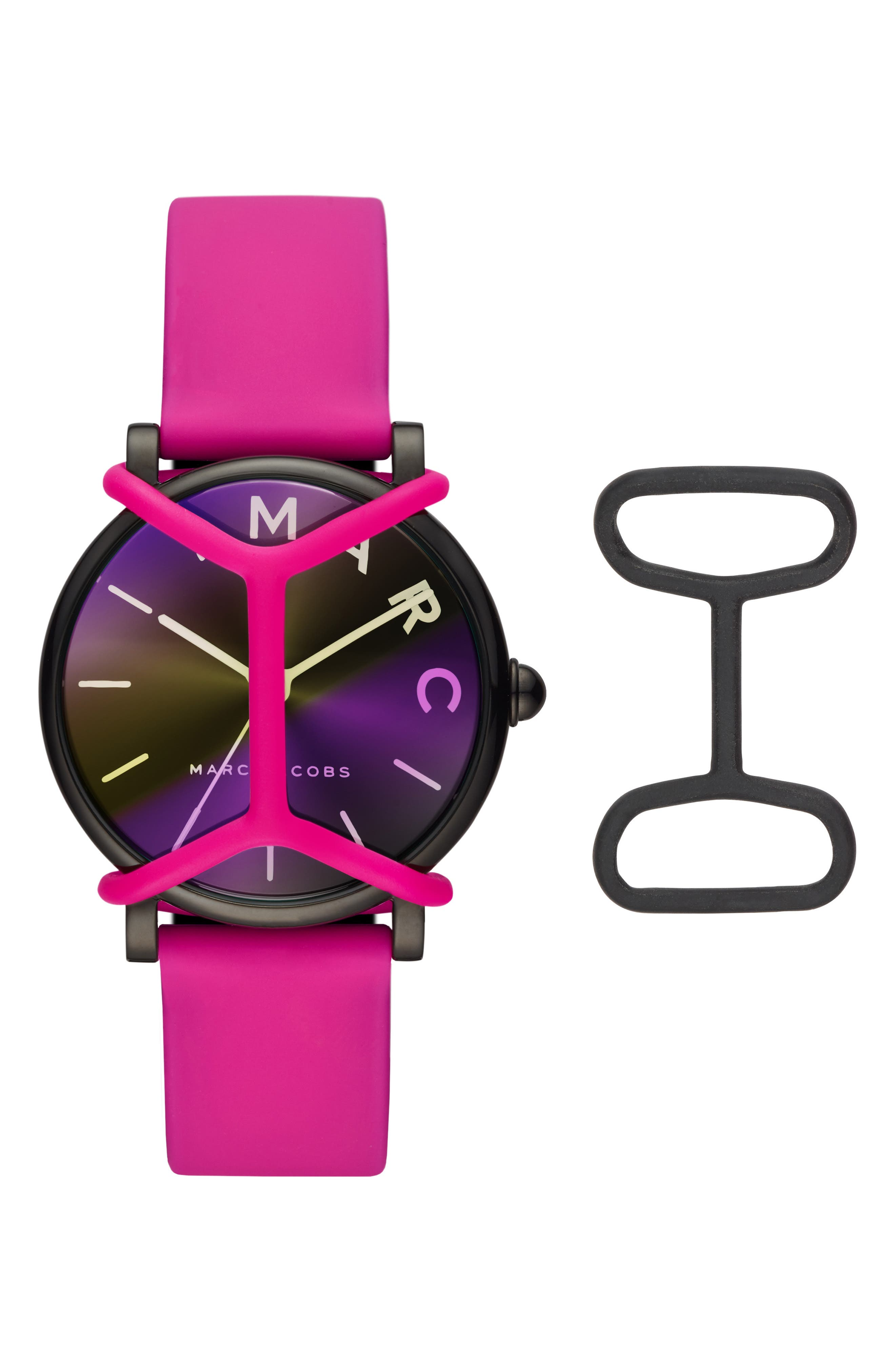 Marc Jacobs Watches Classic Silicone Strap Watch, 36mm