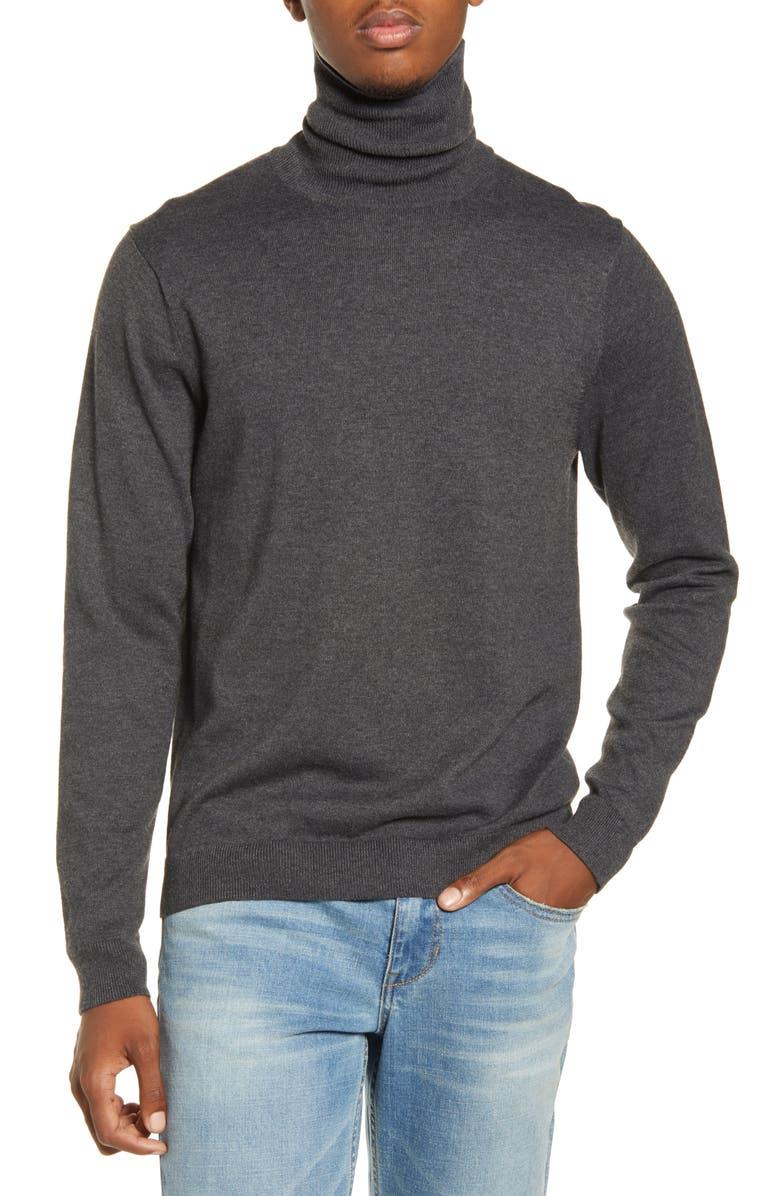 BP. x Alex Costa Turtleneck Sweater, Main, color, GREY DARK CHARCOAL HEATHER