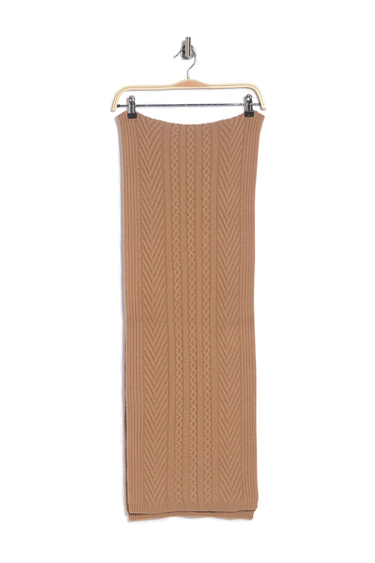 Image of Theory Ritten Textured Knit Cashmere Scarf
