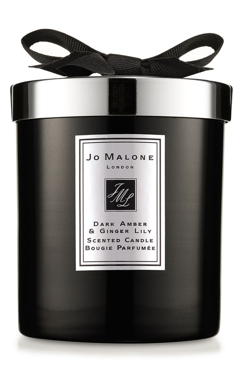 JO MALONE LONDON<SUP>™</SUP> Dark Amber & Ginger Lily Candle, Main, color, 000