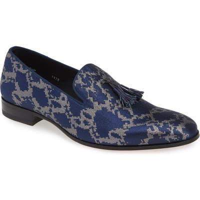 Mezlan Falla Tassel Loafer- Blue