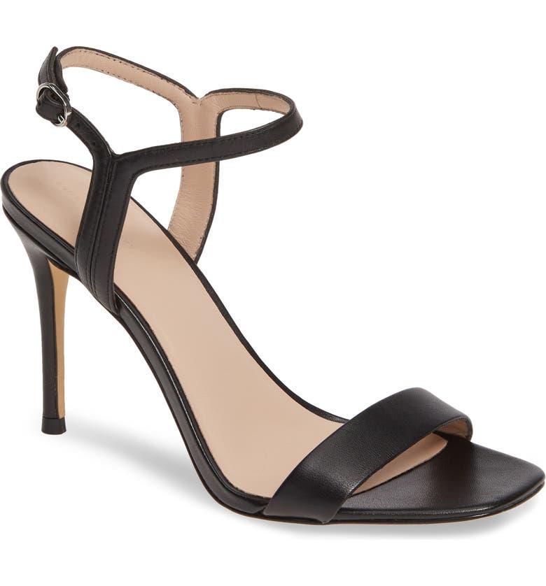 SOMETHING NAVY Ruthie Naked Sandal, Main, color, BLACK LEATHER