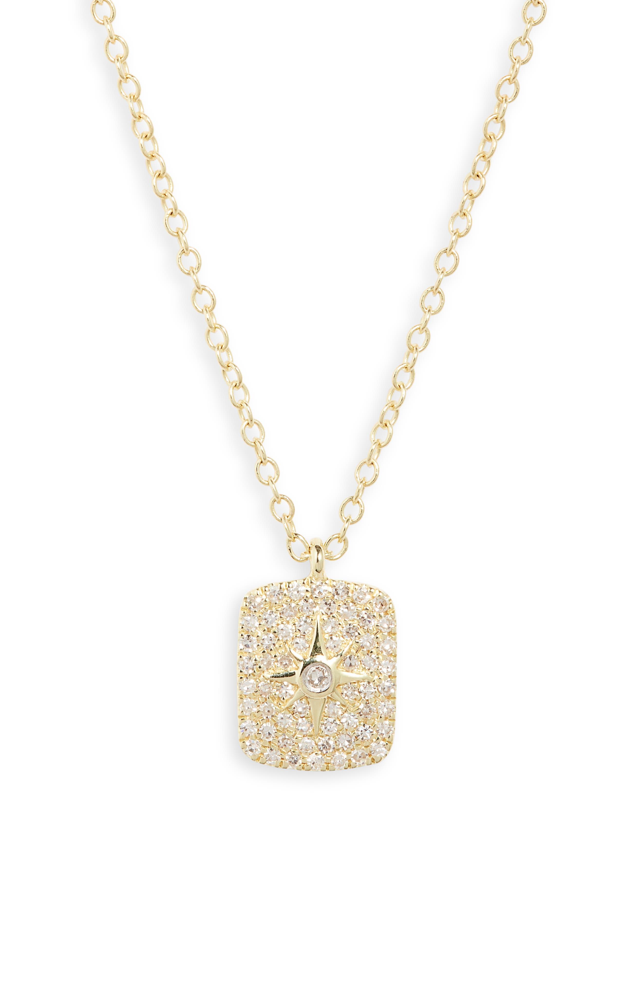 14K Gold & Diamond Pendant Necklace