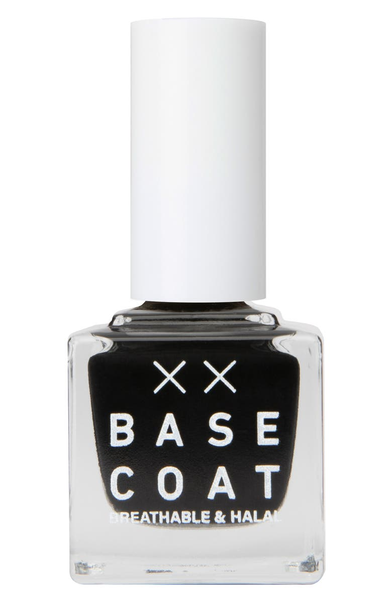 BASE COAT Breathable & Halal Nail Polish, Main, color, BLACK DAHLIA