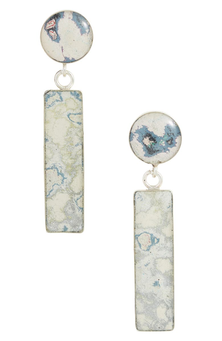 REBEL NELL Molly Drop Earrings, Main, color, WHITE