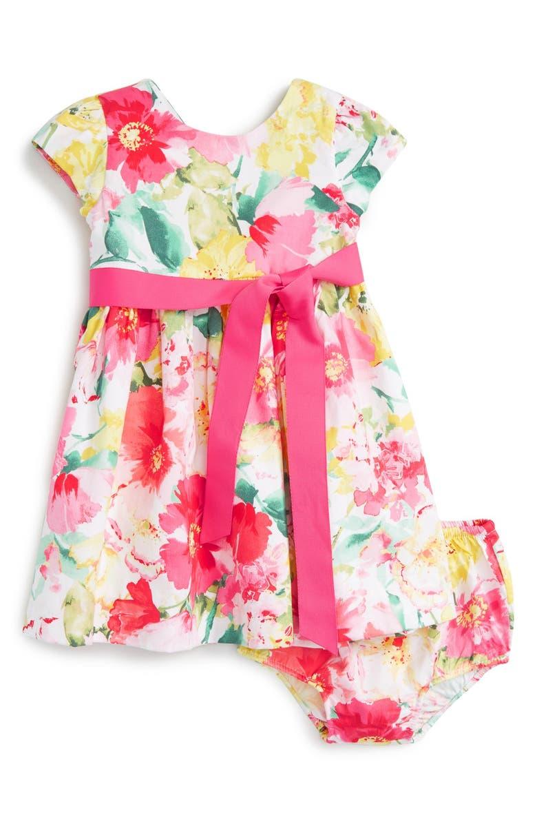 RALPH LAUREN Floral Cotton Dress, Main, color, 650