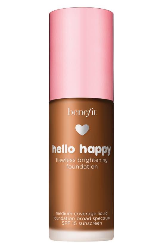 Benefit Cosmetics Benefit Hello Happy Flawless Brightening Foundation Spf 15, 1 oz In Shade 10- Deep Warm