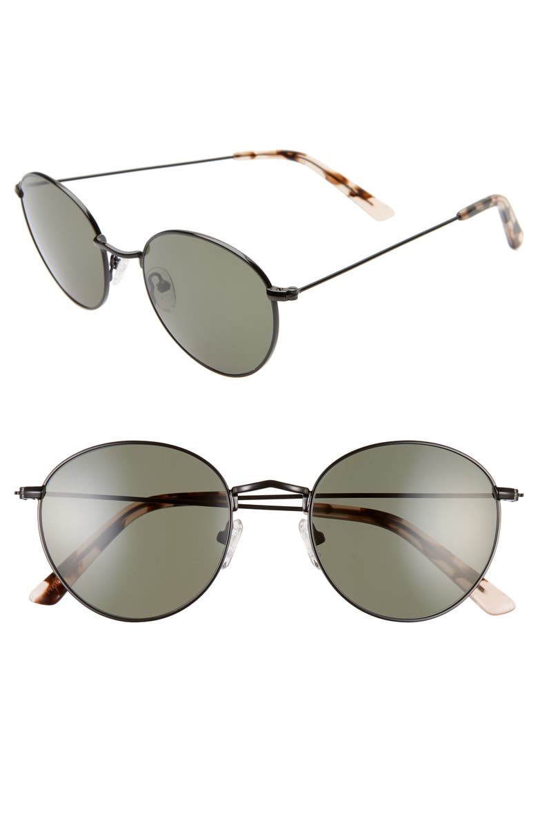 MADEWELL Fest 50mm Aviator Sunglasses, Main, color, TRUE BLACK