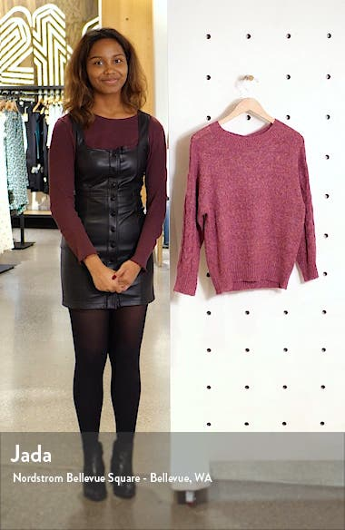 Cable Sleeve Marled Sweater, sales video thumbnail