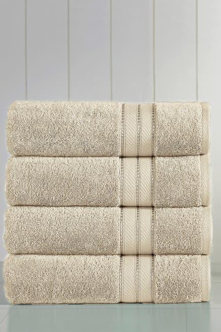 Image of Modern Threads Spunloft Bath Towel - Set of 4 - Sand