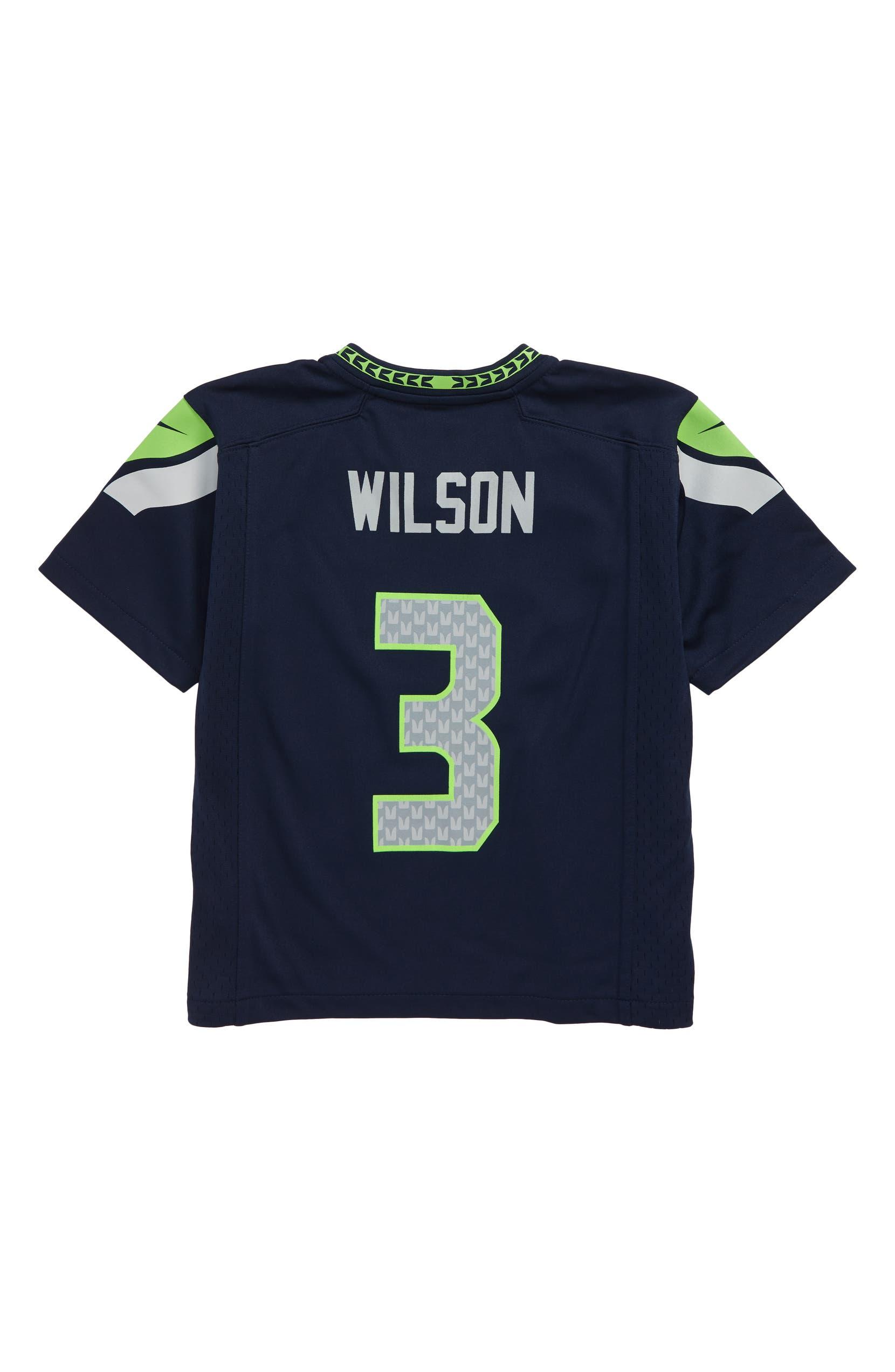 sneakers for cheap 3a6b7 1e652 Nike NFL Logo Seattle Seahawks Russell Wilson Jersey (Little ...