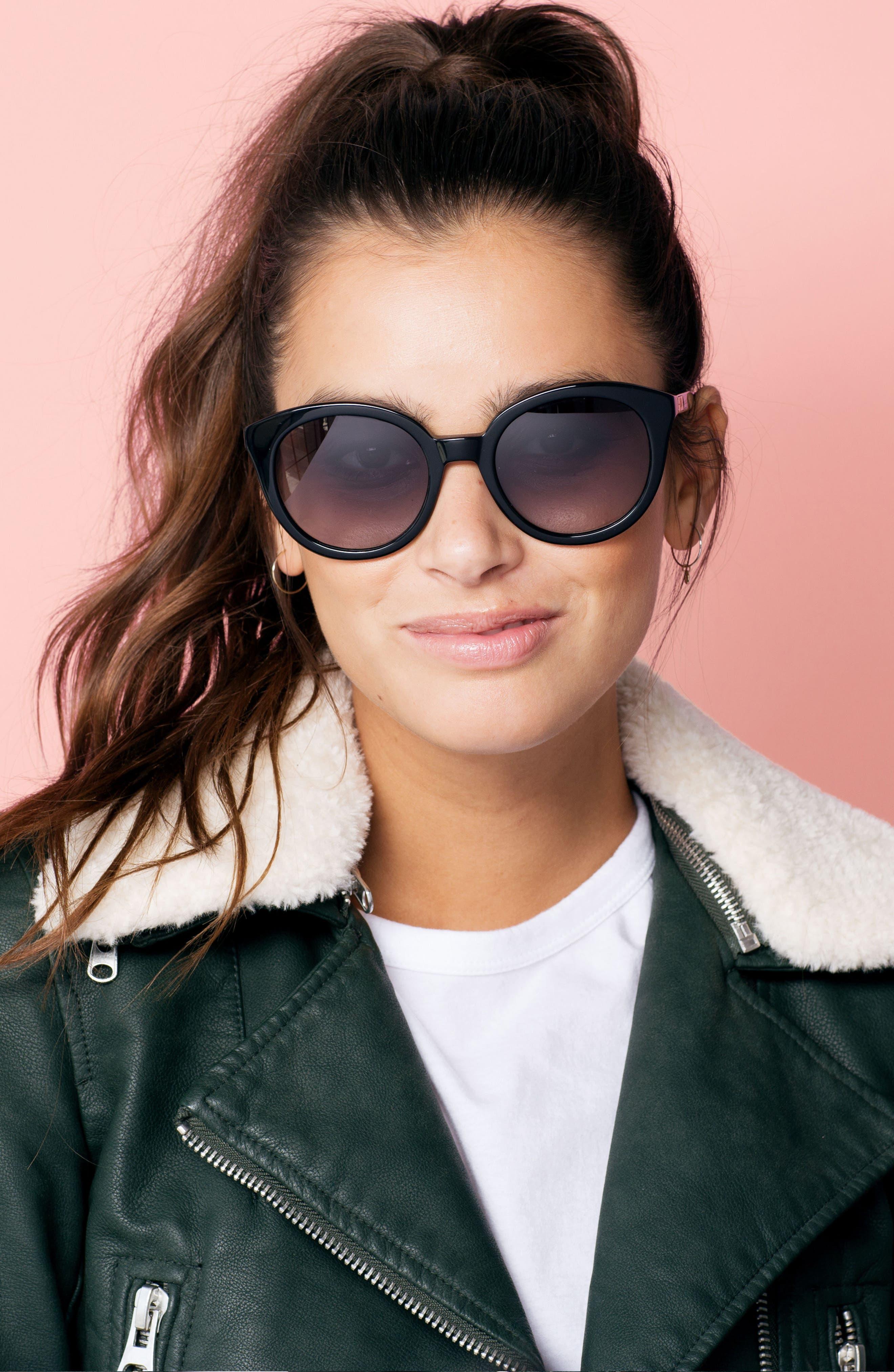 ,                             Holland 50mm Gradient Round Sunglasses,                             Alternate thumbnail 2, color,                             001