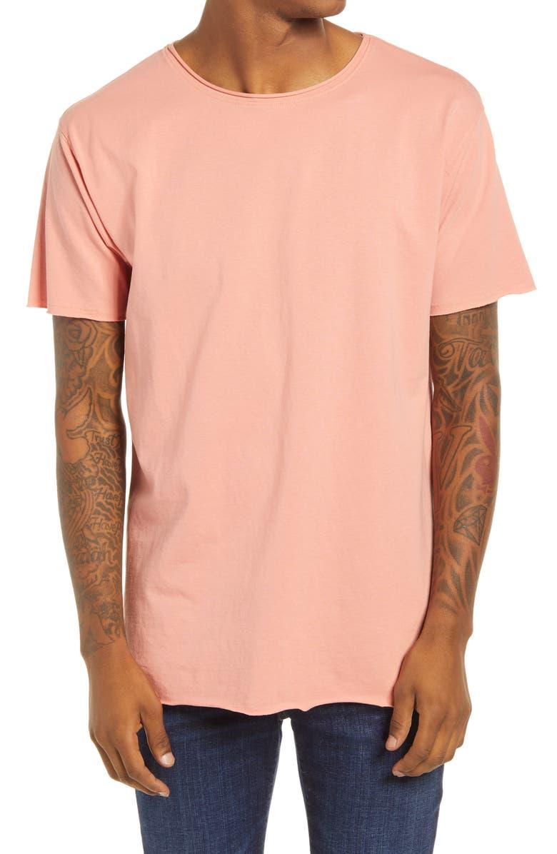 SCOTCH & SODA Organic Cotton Short Sleeve T-Shirt, Main, color, PINK SMOKE