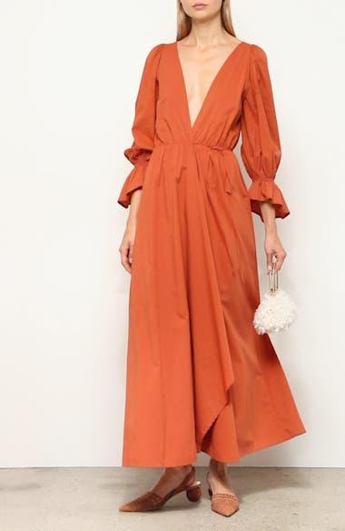 Oona Long Sleeve Midi Dress, video thumbnail