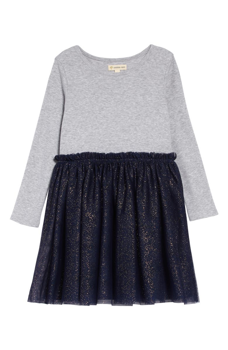 TUCKER + TATE Tutu Dress, Main, color, GREY ASH HEATHER- NAVY