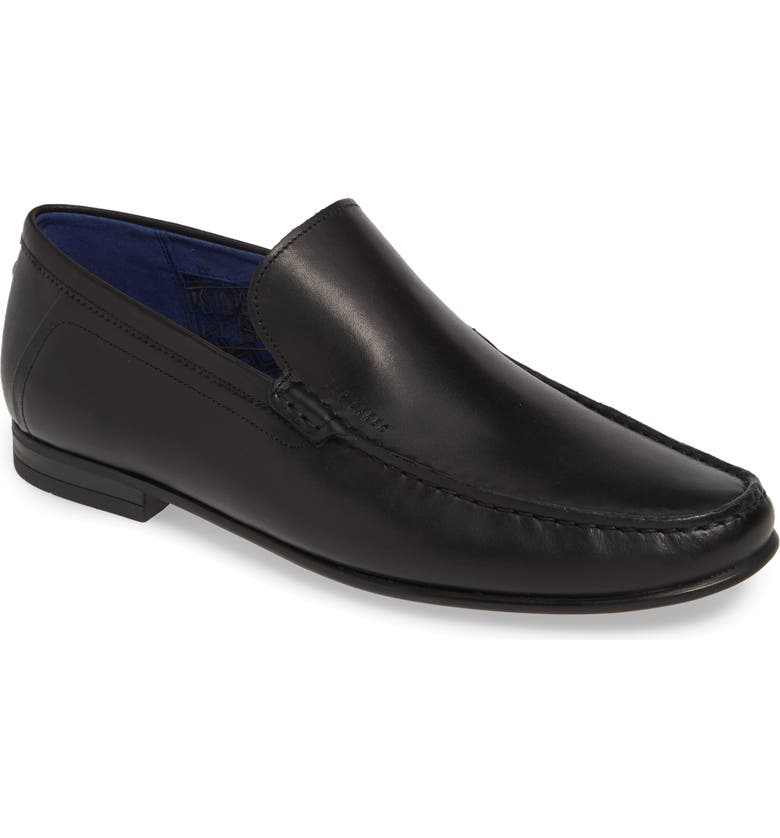 TED BAKER LONDON Lassil Loafer, Main, color, BLACK LEATHER