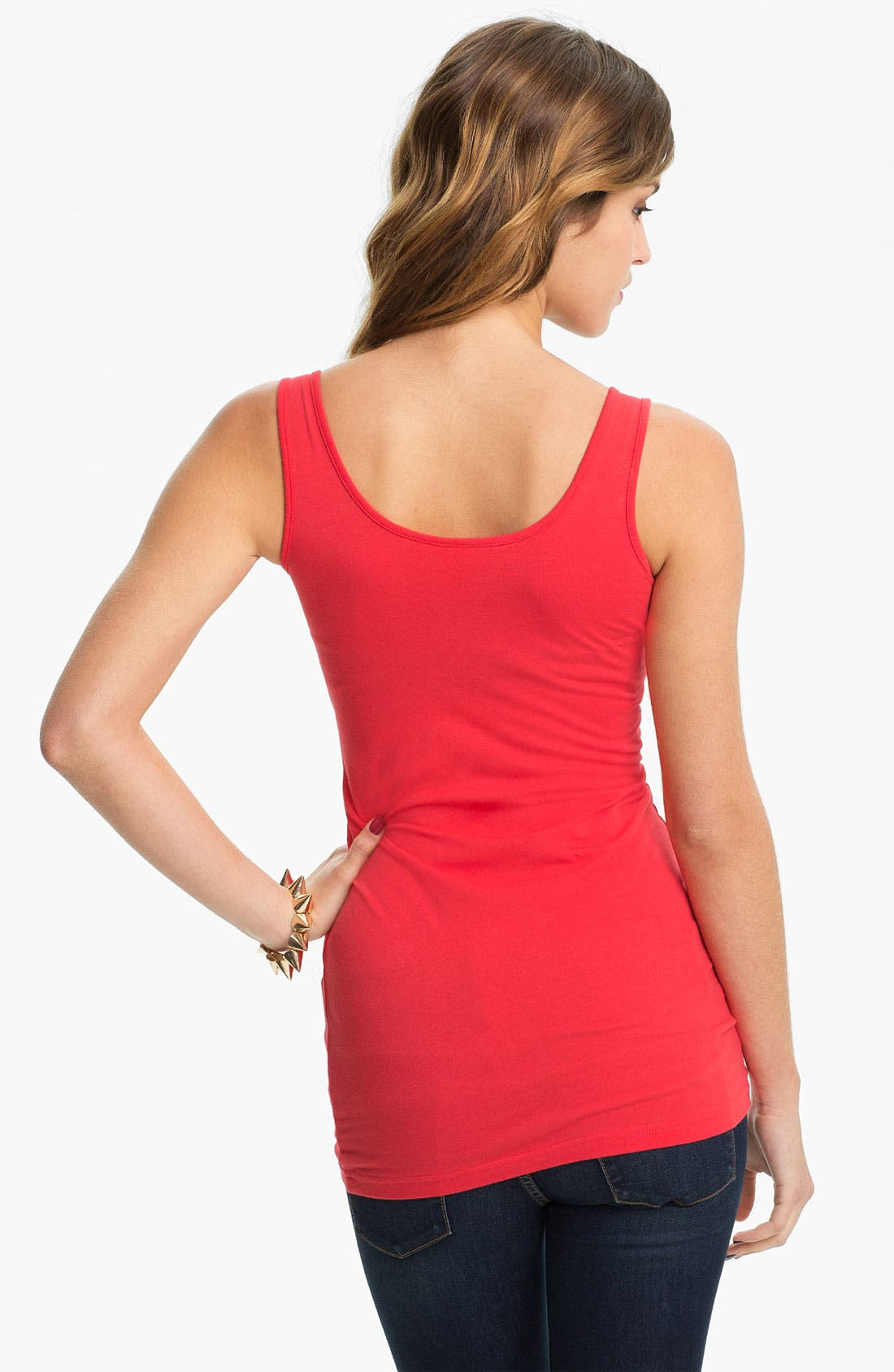,                             Double Scoop Neck Tank,                             Alternate thumbnail 301, color,                             672
