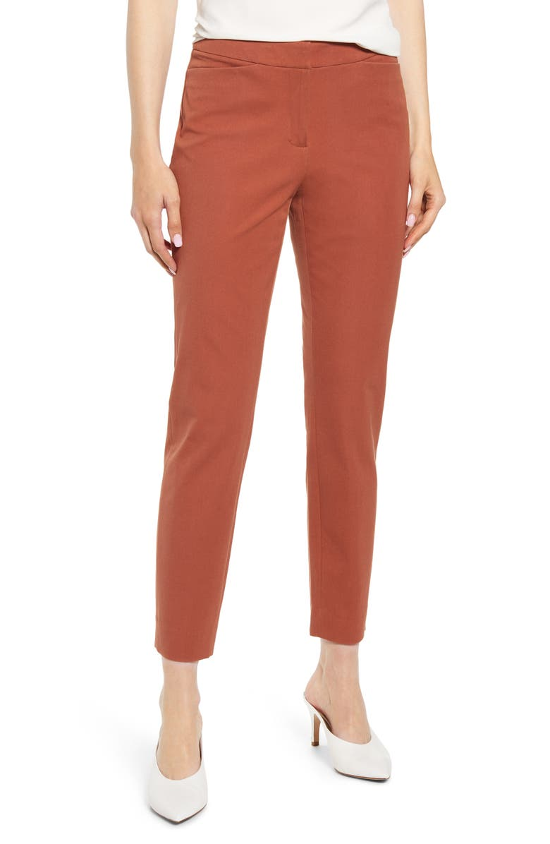 HALOGEN<SUP>®</SUP> Ankle Pants, Main, color, RUST SEQUOIA