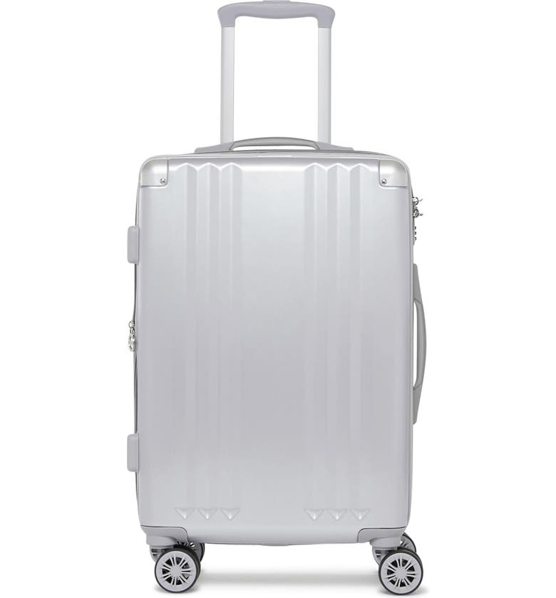 CALPAK Ambeur 20-Inch Rolling Spinner Carry-On, Main, color, SILVER