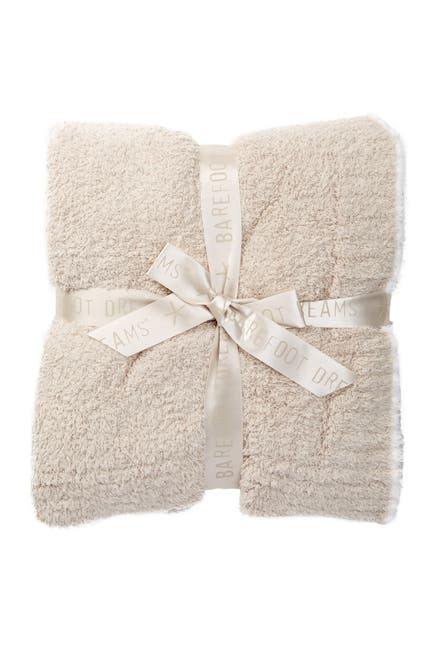 Barefoot Dreams CozyChic Rib Trim Throw 45