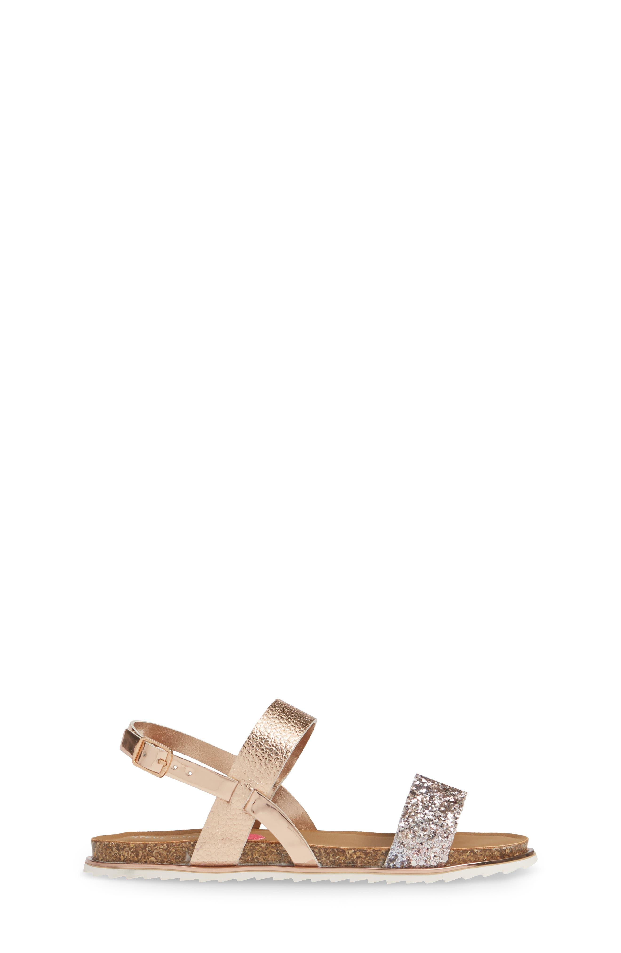 ,                             Jslim Glitter Sandal,                             Alternate thumbnail 3, color,                             ROSE GOLD