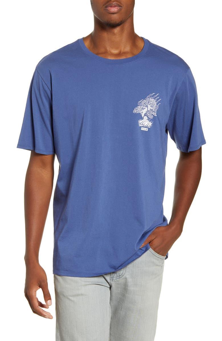 HURLEY Machado Bonsai Graphic T-Shirt, Main, color, MYSTIC NAVY