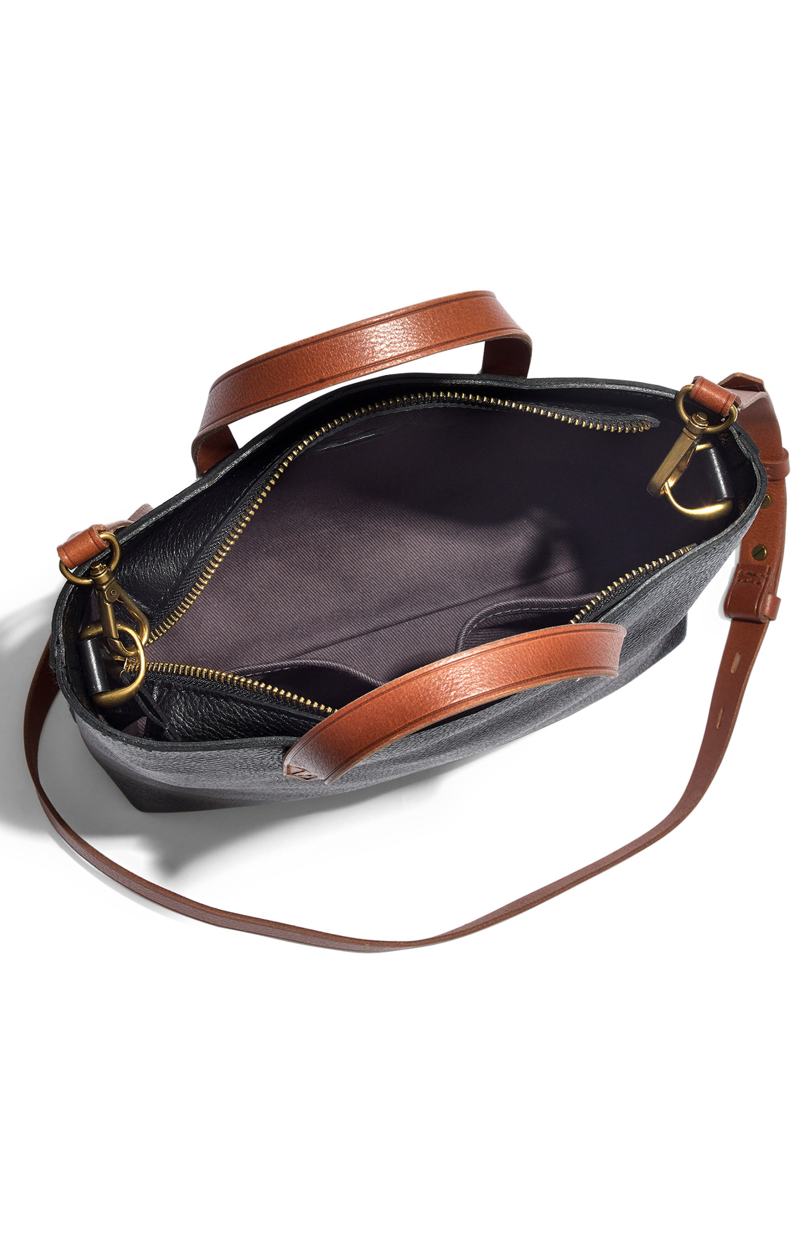 ,                             Small Transport Leather Crossbody Tote,                             Alternate thumbnail 22, color,                             002