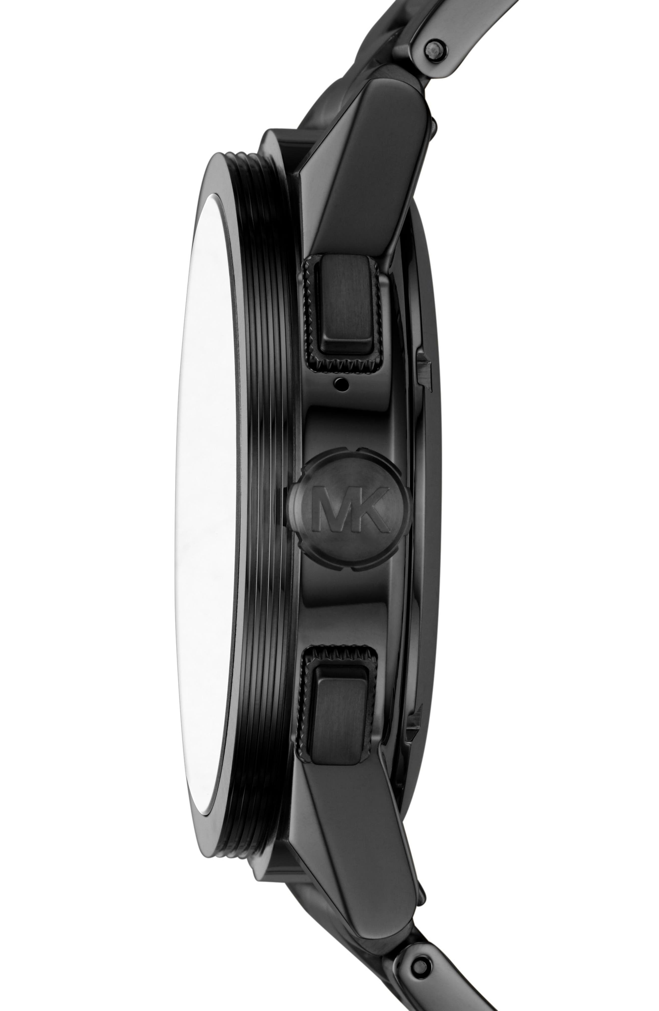 ,                             Grayson Smart Bracelet Watch, 47mm,                             Alternate thumbnail 3, color,                             BLACK
