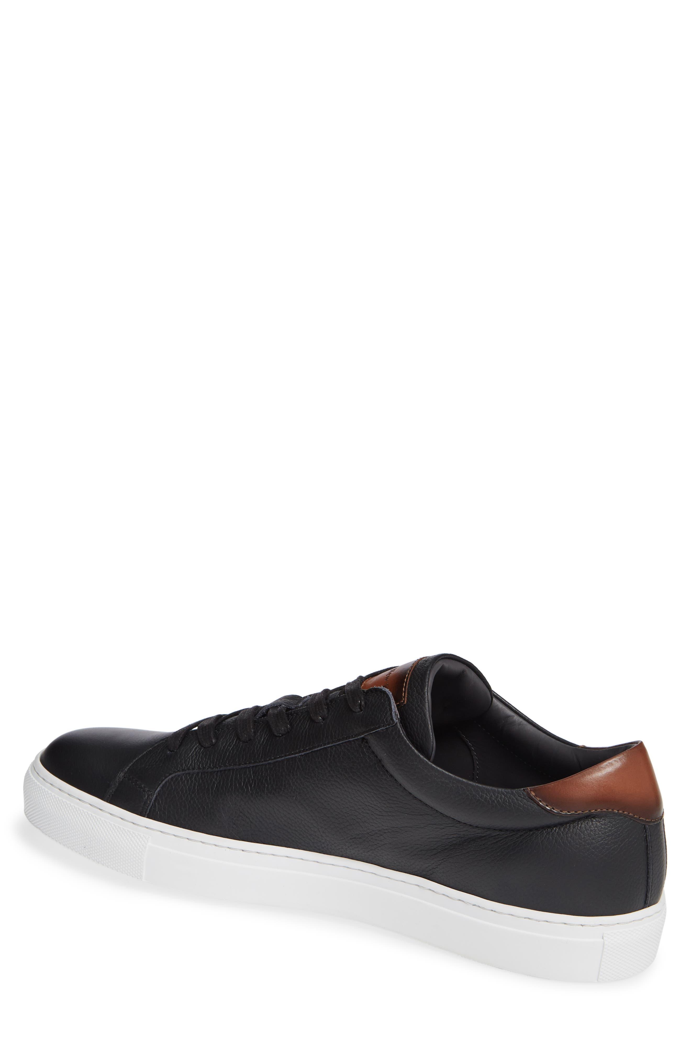 ,                             Knox Low Top Sneaker,                             Alternate thumbnail 2, color,                             BLACK/ TAN LEATHER