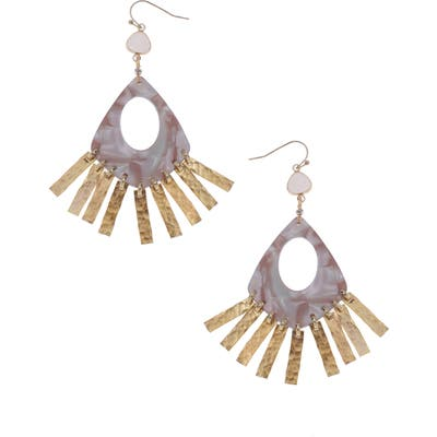 Nakamol Design Teardrop Fringe Earrings