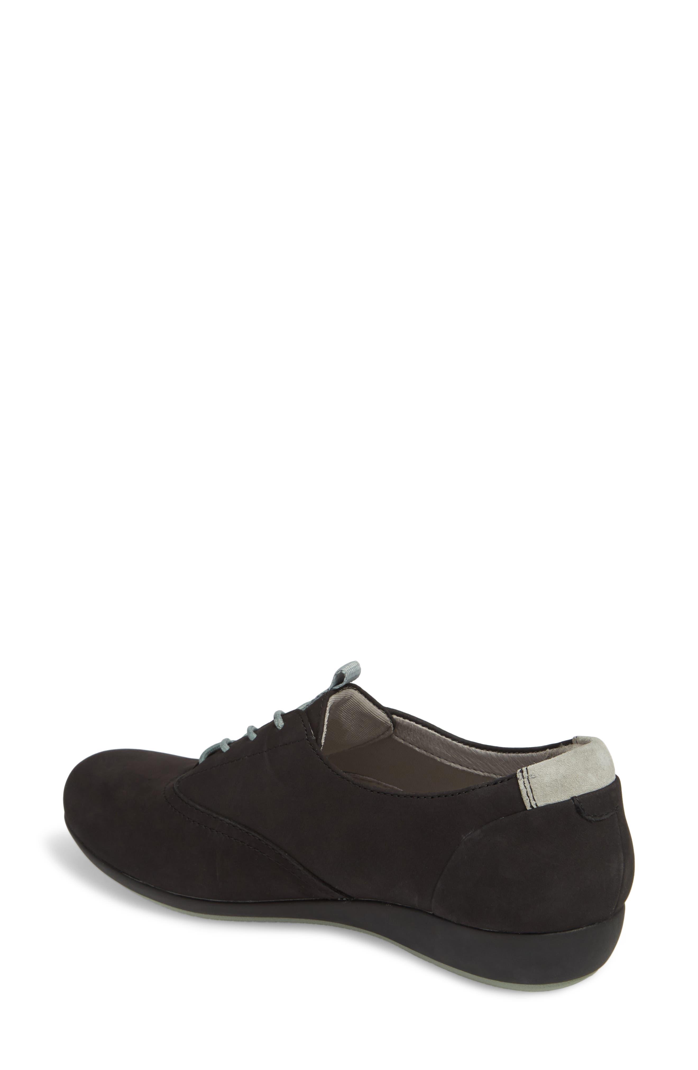 ,                             Kimi Wedge Sneaker,                             Alternate thumbnail 2, color,                             BLACK MILLED NUBUCK LEATHER