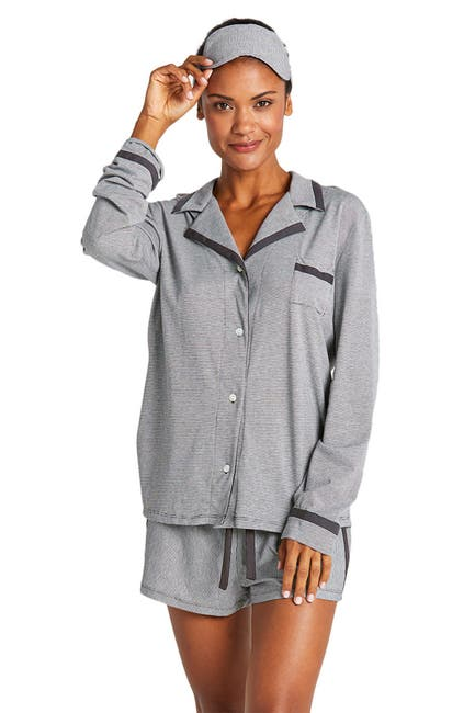 Image of Cosabella Hustle Stripe Pajama Top