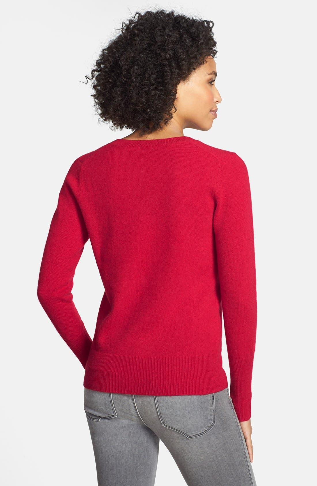 ,                             Cashmere V-Neck Sweater,                             Alternate thumbnail 69, color,                             610