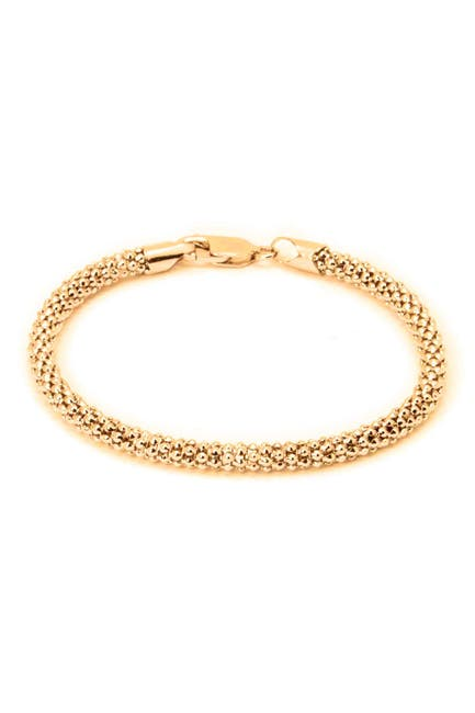 Image of Best Silver Inc. 18K Gold Plated Sterling Silver Coreana Bracelet