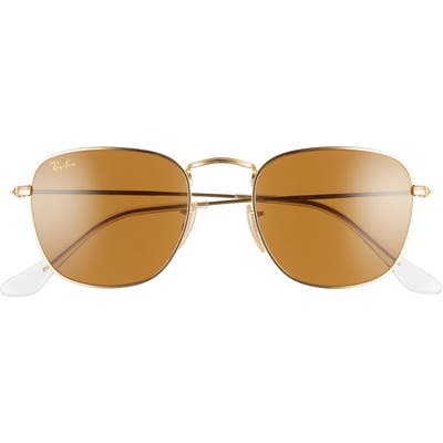 Ray-Ban 51mm Square Sunglasses - Gold/ Brown Solid