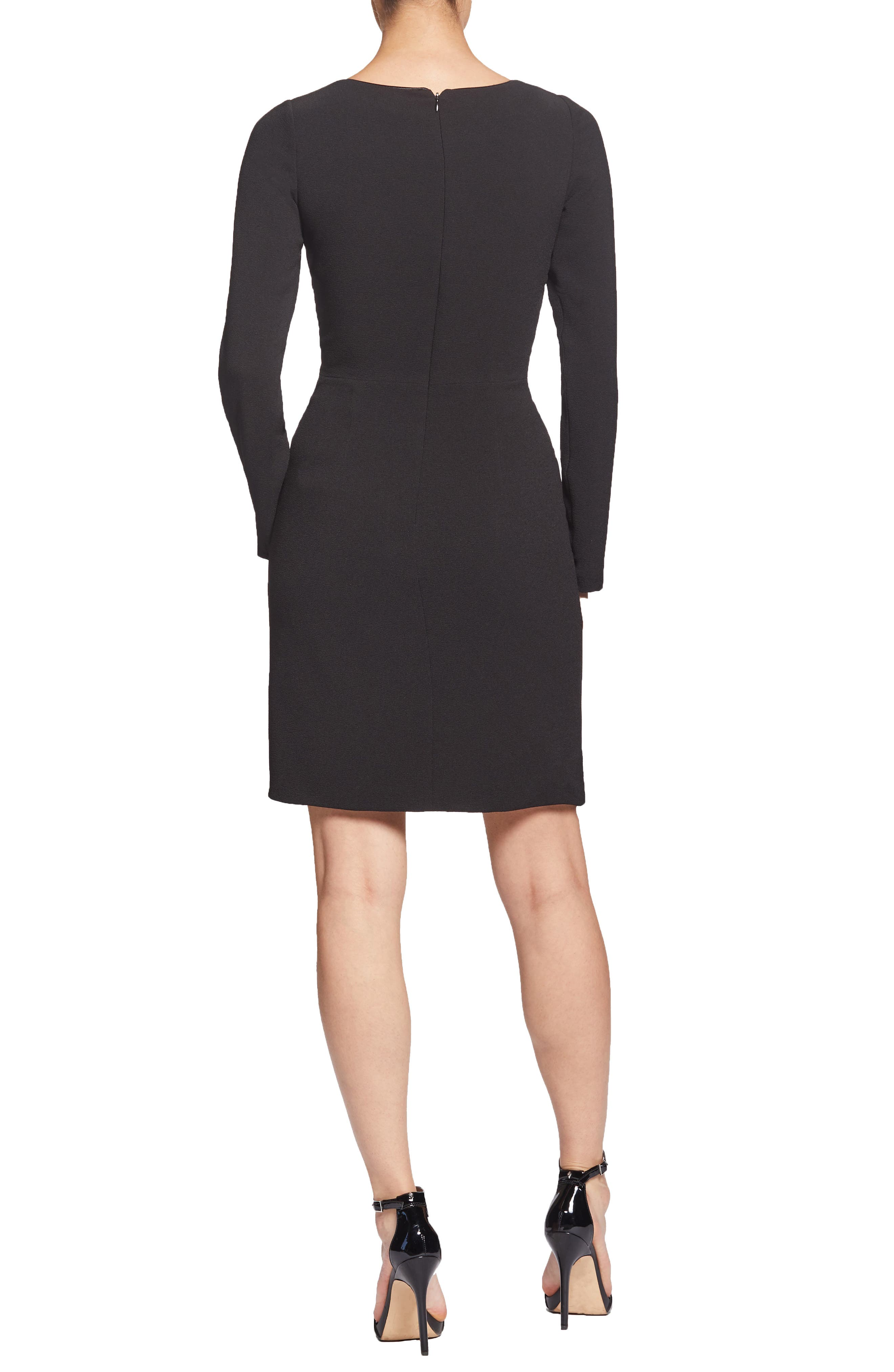 ,                             Coby Twisted Faux Wrap Cocktail Dress,                             Alternate thumbnail 2, color,                             001