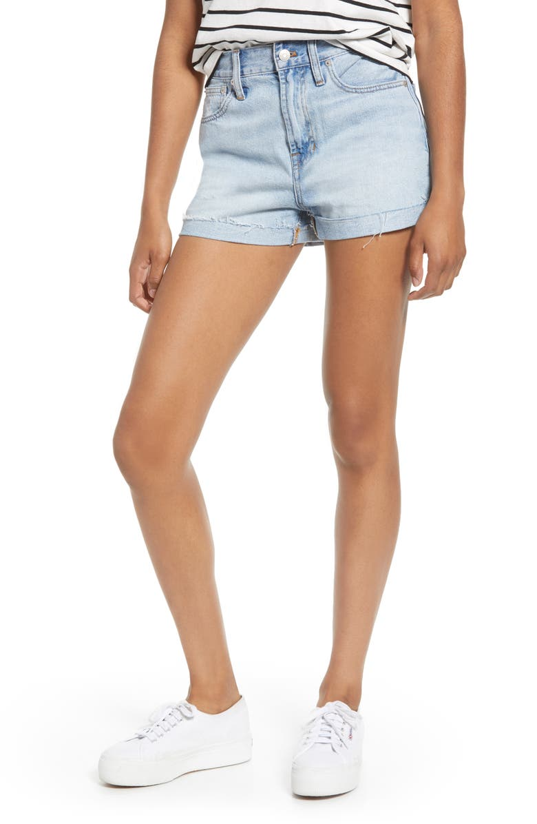 MADEWELL The Perfect Vintage High Waist Cutoff Shorts, Main, color, FITZGERALD WASH