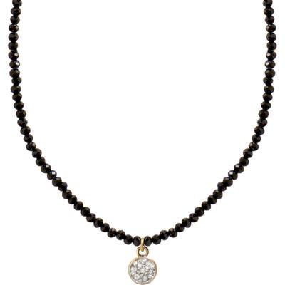 Jane Basch Designs Diamond Circle Pendant Necklace