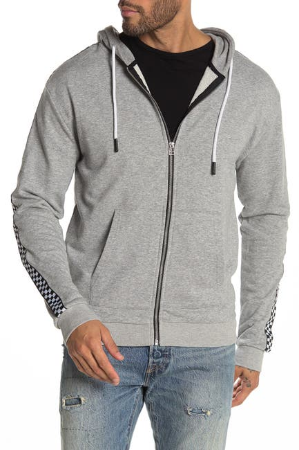 Image of Sovereign Code King Checkered Trim Zip Hoodie