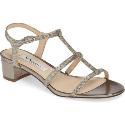 Nina Gelisa T-Strap Sandal- Grey