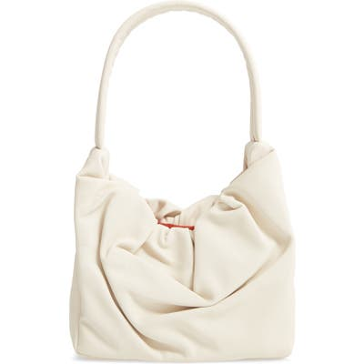 Staud Felix Leather Top Handle Bag - Ivory