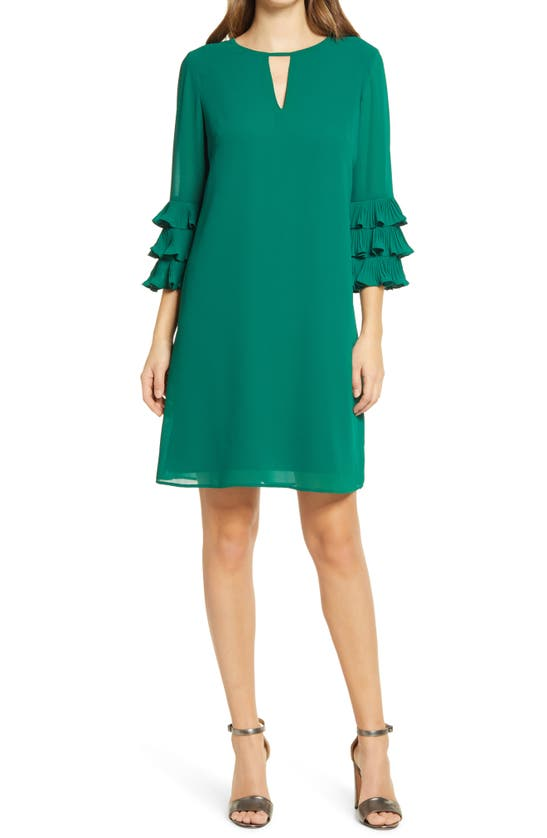 Vince Camuto Mini dresses PLEATED SLEEVE FLOAT SHIFT DRESS